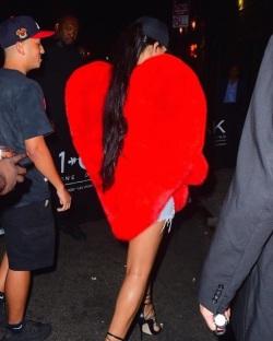 Rihanna//YSL coat