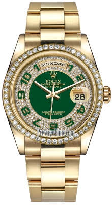 Rolex Day-Date 36mm Yellow Gold Diamond Bezel