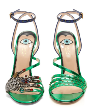Gucci Wangy embellished leather sandals