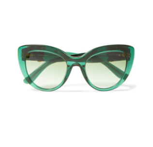 Dolce & Gabbana Cat-eye embellished acetate